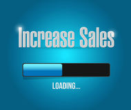 Increase sales search bar sign concept. Illustration design over blue Royalty Free Stock Photo