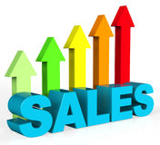 Increase Sales Shows Success Trading And Improvement Stock Photo