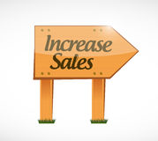 Increase sales wood sign concept Stock Photo