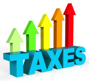 Increase Taxes Shows Taxpayer Duties And Upward Royalty Free Stock Photography