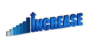 Increase text and chart stock illustration