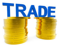 Increase Trade Indicates Grow Money And Export Stock Photography