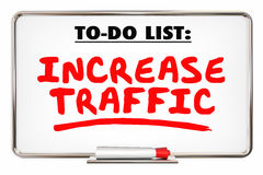 Increase Traffic More Visits Web Internet Store Royalty Free Stock Image