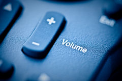 Increase the Volume!. Volume button on a remote control Stock Image