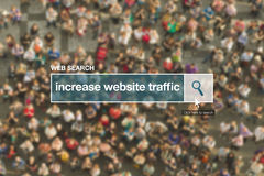 Increase website traffic web search bar glossary term Royalty Free Stock Photography