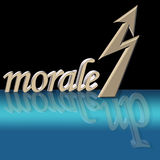 Increased morale. With surreal reflection Royalty Free Stock Photos