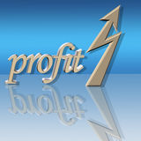 Increased profit. With reflection on glass Stock Image