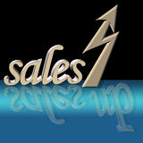 Increased sales. With surreal reflection on glass surface royalty free illustration