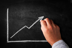Increasing arrow graph Stock Photography