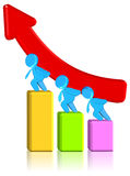Increasing Business Chart. Three dimension style and High Quality Image Royalty Free Stock Photos