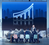 Increasing Business Graph Chart Data Concept royalty free stock photos