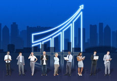 Increasing Business Graph Chart Data Concept royalty free stock images