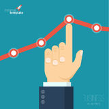 Increasing business graph Royalty Free Stock Photo