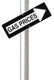 Increasing Gas Prices Stock Photography