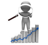 Increasing Graph Arrow Character Shows Profit Royalty Free Stock Photography