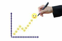 Increasing graph for business achievement concept. Business hand drawing increasing graph for achievement concept Stock Photo