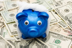 Increasing health care costs. Piggy bank with a bandage over it on a money background, Increasing health care costs Stock Images