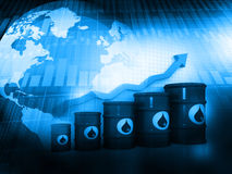 Increasing oil price Stock Images