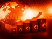 Increasing oil price Stock Image