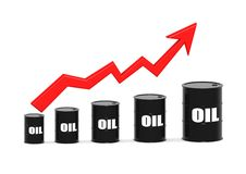 Increasing price of oil. Rendered artwork with white background vector illustration