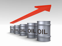 Increasing price of oil concept Stock Photography