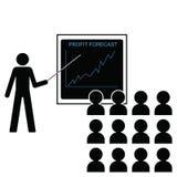 Increasing profit margins. Man giving economic forecast increasing profit margins Royalty Free Stock Image