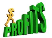 Increasing Profits royalty free stock photography