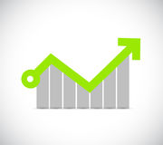 Increasing profits business graph illustration Royalty Free Stock Photos