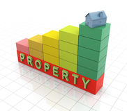 Increasing of property value royalty free illustration