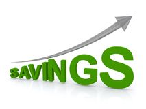 Increasing savings Stock Photography