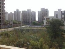 Increasing urbanization. Increasing population and increasing urbanization. Where is environment Royalty Free Stock Photography