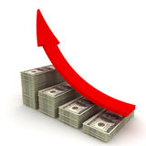 Increasing value of Dollar. Royalty Free Stock Photos