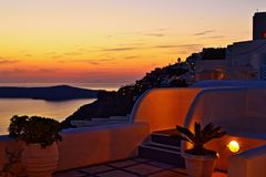Incredible Aegean Sea Evening View Santorini Greece Royalty Free Stock Photography