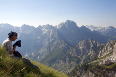 Incredible Albanian Alps Stock Photo