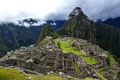 The incredible ancient ruins of Machu Picchu in Peru. Royalty Free Stock Photography