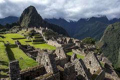 The incredible ancient ruins of Machu Picchu in Peru. Royalty Free Stock Images