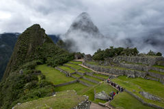The incredible ancient ruins of Machu Picchu in Peru. Stock Photos
