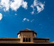 Incredible architecture of the Alhambra palace Royalty Free Stock Photo