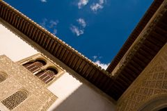 Incredible architecture of the Alhambra palace Stock Photos