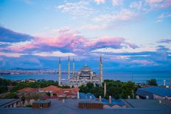 Incredible beautiful view of Blue Mosque from Stock Photos