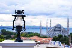 Incredible beautiful view of Blue Mosque from Stock Images