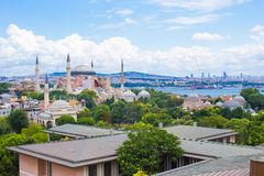 Incredible beautiful view of Hagia Sophia from Royalty Free Stock Images