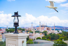 Incredible beautiful view of Hagia Sophia from Royalty Free Stock Photo