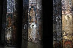 The incredible beauty of Ajanta in Maharashtra. Taken in India, August 2018 royalty free stock image