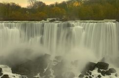The incredible beauty of Niagra Falls. Niagra Falls in the early morning light on a winters day Stock Photo