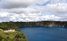 The incredible Blue Lake at Mt Gambier Stock Photography