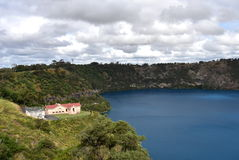 The incredible Blue Lake at Mt Gambier Royalty Free Stock Images