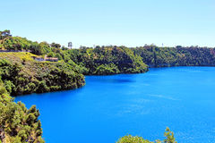 The incredible Blue Lake at Mt Gambier, South Australia Royalty Free Stock Photography