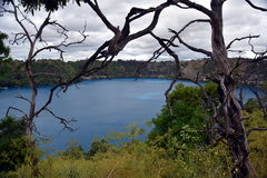 The incredible Blue Lake at Mt Gambier Stock Images