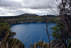 The incredible Blue Lake at Mt Gambier Stock Photo